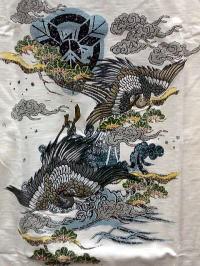 値下げ♪華鳥風月 和柄Tシャツ長袖 鶴刺繍