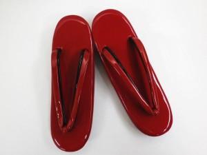 2色使鼻緒の無地草履ぞうり赤(黒)M・L(3枚芯) 着物・振袖成人式&卒業式袴に