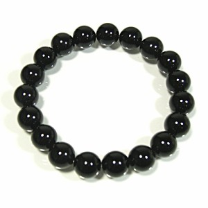 10mm 18〜19cm オニキスブレスレット (メンズM〜Lサイズ) /天然石 パワーストーン 数珠 腕輪 ブラックオニキス