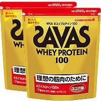 ザバス ホエイプロテイン100 ココア味 2520g x 2袋(徳用) 【送料無料/SAVAS/明治】