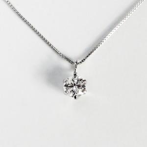 純プラチナ0.2ctダイヤモンド一粒石ペンダントネックレス ...