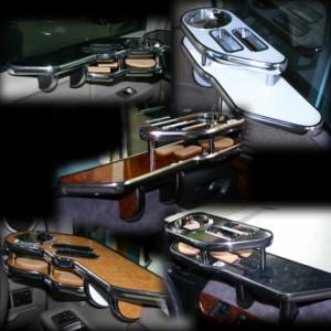 純国産サイドテーブル[トヨタ]100系ハイエース≪H1##≫サイドテーブル 送料無料