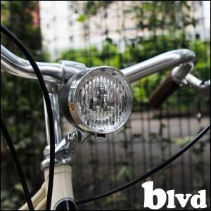 自転車 ヘッドライト 砲弾型LEDライト blvd ブルーバード HEADLIGHT 3色バリ