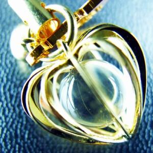 縁結びお守り♡パワーストーン水晶入恋愛成就守 神社で祈願済み/ストラップ/御守/パワーストーン/結婚成就/復縁