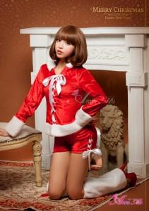 [即納] サンタ コスプレ サンタ コスチューム アニマル 猫耳 バニー セクシー パンツ クリスマス サンタコスチューム 黒 緑 赤
