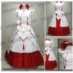 DK2153 豪華版巫女服 風 コスプレ衣装 完全オーダメイドも対応可能
