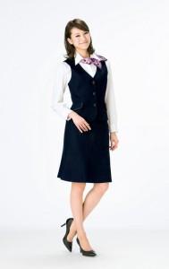 スタイリングを旬に魅せる鮮やかなドット柄 【スカーフリボン】 事務服