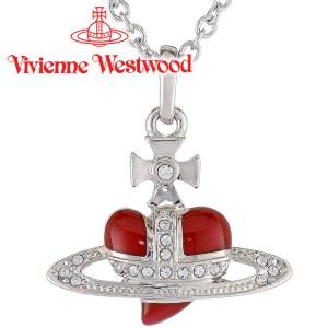ヴィヴィアン ウエストウッド ペンダント ネックレス ディアマンテ エナメルハートレッド Vivienne Westwood