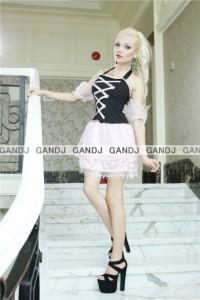 ピンク×黒 ハロウィン衣装  コスプレ 魔女  キャラクター  sexy 童話 7721