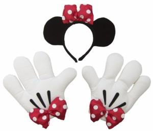 ディズニーミニーの手と耳付きカチューシャセット 仮装グローブ&カチューシャでハロウィンディズニーランド