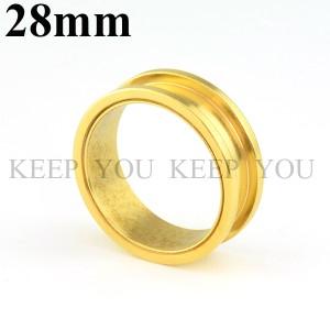【メール便 送料無料】ボディピアス フレッシュトンネル ゴールド 28mm Anodized Gold ボディーピアス ┃