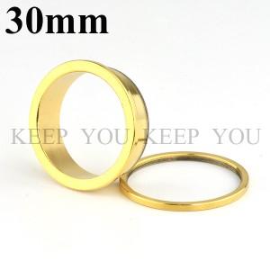 【メール便 送料無料】ボディピアス フレッシュトンネル ゴールド 30mm Anodized Gold ボディーピアス ┃