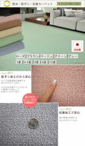 防炎カーペット ソフトタッチラグ 防ダニ・抗菌 ニューマカロンループ(N) 四畳半 4畳半 4.5畳 4.5帖 261×261cm 日本製