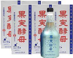 果実酵母マーベル  565ml x 6本(徳用) 【送料無料/天然酵母飲料】