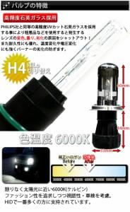 数量限定お試しモニター特価【超薄型14mmバラスト採用】H4 Hi/Lo HIDコンバージョンキット6000K・8000K/35W