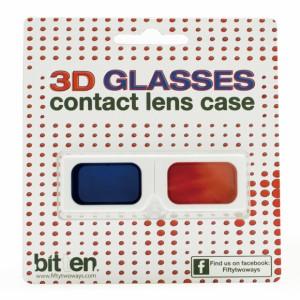 送料 260円 3Dメガネ型 コンタクトレンズケース 3Dグラス コンタクトレンズ ホルダー / 眼鏡 / めがね