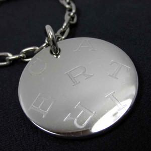 カルティエ◆【中古】◆オーバルメダルロゴプレート 丸型◆キーホルダ