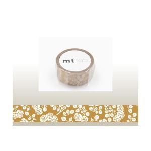 【メール便OK】mt fab/マスキングテープ(1巻)/ワックスペーパー/花柄/15mm/MTWX1P01/カモ井/NEW