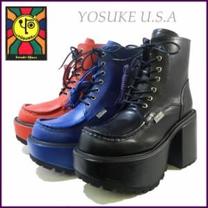 【1〜5営業日後の出荷】YOSUKE U.S.A レースアップ厚底ショートブーツ 2609800