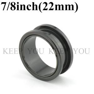 メール便 送料無料/ボディピアス フレッシュトンネル ブラック 7/8inch(22mm) Anodized Black ボディーピアス ┃