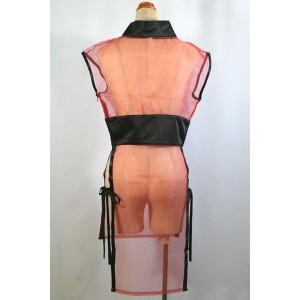 セクシードレス 着物 ドレス コスプレ衣装 コスチューム 手袋付きスケスケ忍者 くノ一 衣装 マイクロミニ セクシー cos5084b