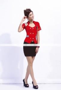 スチュワーデス コスプレ CA コスチューム 制服 ハロウィン  3色あり  sexy  5644