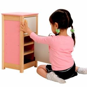 送料無料◆木のおもちゃ マイプレイキッチン 冷蔵庫 (木製玩具/知育玩具/木製おもちゃ/収納棚/おままごと) 【玩具】