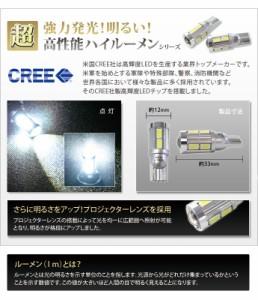 【T10】超強力発光!CREE クリー社製高輝度LEDチップ搭載!プロジェクターレンズ採用 ハイルーメンLED 5W 220lm ホワイト2個