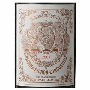 シャトー・ピション・ロングヴィル・バロン 2007年 【赤ワイン/フランス/ボルドー】