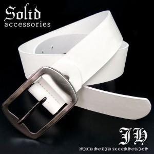 ★プレーンベルト シンプルベルト フェイクレザー ビンテージ ホワイト 白 メンズ 【belt17】