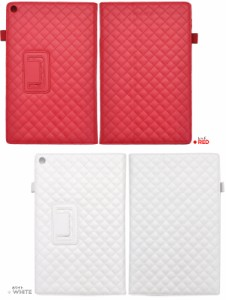 Xperia Z2 Tablet SO-05F用 4色展開 キルティングレザースタンドケース   手帳タイプ エクスペリア Z2 タブレット SO-05F