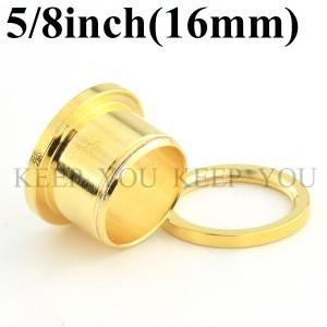 【メール便 送料無料】ボディピアス フレッシュトンネル ゴールド 5/8inch(16mm) Anodized Gold ボディーピアス ┃