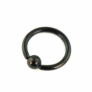 【メール便 送料無料】 キャプティブビーズリング ブラック18GA(1mm) BCR Anodized Black【ボディピアス/ボディーピアス】 ┃