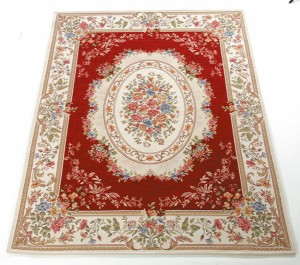 【送料無料!ポイント7%】ゴブラン織 セニールカーペット 240×240  優雅な雰囲気のカーペットでお部屋を上品に!