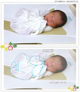 【送料別】赤ちゃんの安眠のための育児グッズ☆おひなまき2枚組 Sサイズ[70cm×70cm]☆