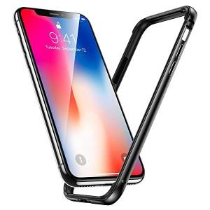f429765bd8 iPhone Xs ケース iPhoneX ケース iPhone X Xs バンパー, アルミ シリコン アイフォンX 用 耐