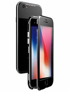 ca3585eb1d iPhone 6s ケース マグネット式 薄型 アイフォン6 ハードケース 強化ガラス背面板 ガラスフィルム