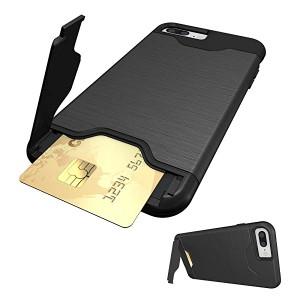 bc23911528 iphone8plus/iphone7plus ケース icカード収納 スタンド付き 耐衝撃 スマホケース アイフォン8プラス/