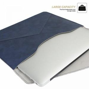 Te-Rich MacBook Air / Pro、iPad Pro、Surface pro 4 / 3 などのための スリーブケ... 薄型 PUレザー (13-13.3インチ, ブルー)
