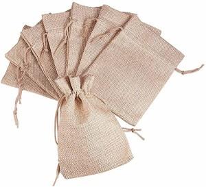 巾着袋 麻布袋 20枚 巾着袋 ラッピング袋 18x13cm 紐付き 和風収納袋 コットン袋 無地 ギフトバッグ ジュエリーポーチ 収納バッ ...