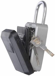 キーボックス セキュリティキーボックス ダイヤル式 操作簡単 パスワード 保管 鍵 ボックス ロックポケット 住宅 会社 工事現場 倉庫