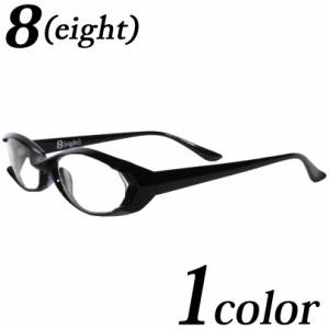 伊達メガネ 黒縁 メンズ スクエア メガネ 新作 眼鏡 新作 黒ぶち眼鏡 黒 ブラック スクエア めがね サングラス 8(eight) エイト 8