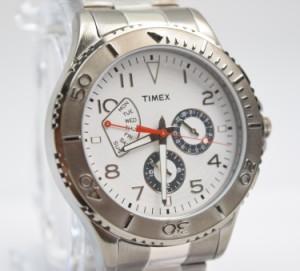 TIMEX タイメックス ウォッチ 時計 2p038silver Ameritus Retrograde Two-Tone Gray Stainless Steel Bracelet Watch アナログ 腕時計
