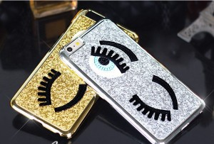 スマホケーススマートフォンケースiPhone6 ケース iPhone6 Plus ケース iPhone6 キラキラ まつげ 大きな目 アイフォン6ケース(全2色)