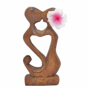 キスドール【ハワイアン雑貨/ハワイの木彫りの置物/マリン雑貨/ハート雑貨/プルメリア雑貨/木彫りの人形/ギフト/ラッピング無料】