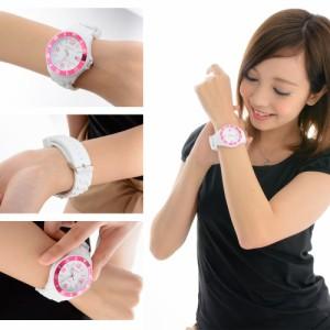 INTIMES(インタイムス)シチズン製ムーブ搭載!44mm 爽やか ホワイト シリコン ダイバー メンズ レディース 腕時計 IT057MD