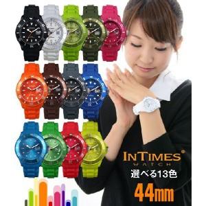 INTIMES(インタイムス)シチズン製ムーブ搭載!44mm シリコン メンズ 腕時計 選べる14色♪ IT057