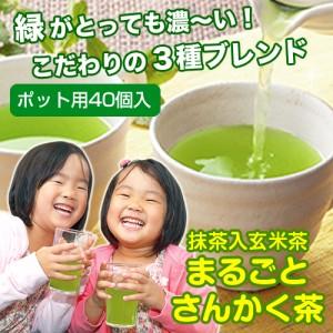 まるごとさんかく茶 ポット用40個入【深蒸し茶/緑茶/抹茶/玄米茶/お茶/水出し/ティーバッグ】【ティーライフ】
