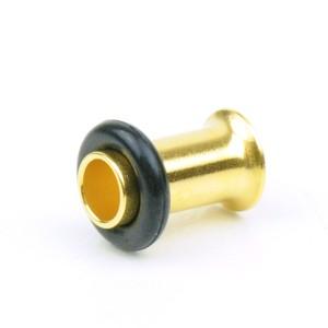 【メール便 送料無料】シングルフレア ゴールド 4GA(5mm)ハーフフレア Anodized GOLD【ボディピアス/ボディーピアス】 ┃