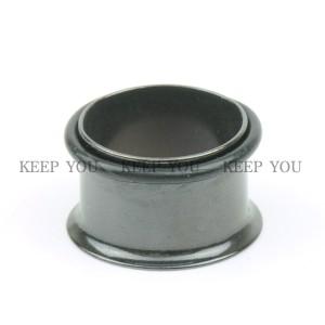 【メール便 送料無料】シングルフレア ブラック 5/8インチ(16mm) ハーフフレア Anodized BLACK【ボディピアス/ボディーピアス】 ┃